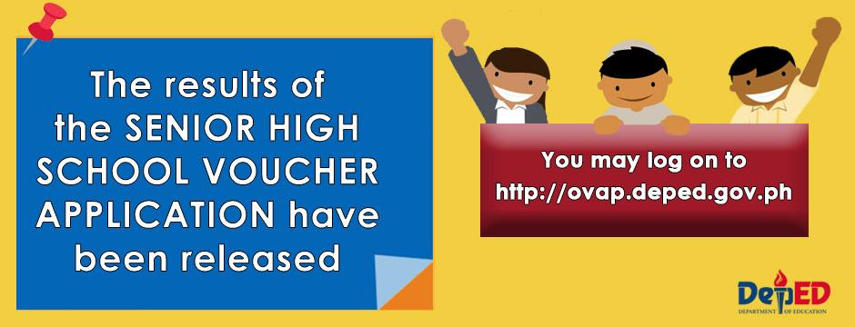 Schools division of kalinga this is the official website of the shs voucher application result fandeluxe Gallery